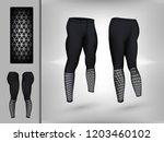 visual drawing of model pants... | Shutterstock .eps vector #1203460102