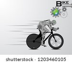 visual drawing of robot for... | Shutterstock .eps vector #1203460105