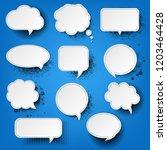 retro speech bubble with blue... | Shutterstock .eps vector #1203464428