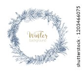 decorative wreath made of... | Shutterstock .eps vector #1203466075