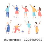 collection of male and female... | Shutterstock .eps vector #1203469072