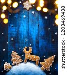 christmas holiday banner with... | Shutterstock . vector #1203469438