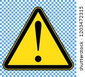 danger sign  hazard sign | Shutterstock .eps vector #1203472315
