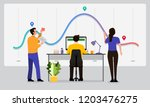 the teamwork together working... | Shutterstock .eps vector #1203476275