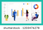 the teamwork together working...   Shutterstock .eps vector #1203476278