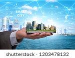 smart city in innovation concept | Shutterstock . vector #1203478132