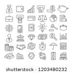 finance line icons | Shutterstock . vector #1203480232