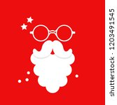 santa claus beard and glasses. | Shutterstock .eps vector #1203491545