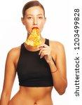 fashionable glamorous femme... | Shutterstock . vector #1203499828