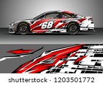 racing car wrap design vector.... | Shutterstock .eps vector #1203501772