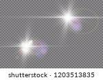 vector transparent sunlight... | Shutterstock .eps vector #1203513835
