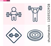 contains such icons as lifting... | Shutterstock .eps vector #1203522928