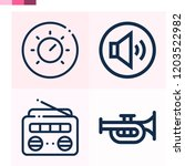 contains such icons as trumpet  ... | Shutterstock .eps vector #1203522982