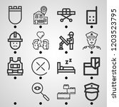 simple set of outline icons on...   Shutterstock .eps vector #1203523795