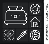 set of 6 home outline icons... | Shutterstock .eps vector #1203527482