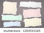 colorful note  notebook paper... | Shutterstock .eps vector #1203531265