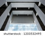 abstract architectural design.... | Shutterstock . vector #1203532495