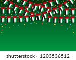 garland uae flags with green...   Shutterstock .eps vector #1203536512