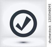 confirm icons  stock vector...   Shutterstock .eps vector #1203548095