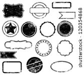 vector set of distressed stamps | Shutterstock .eps vector #120354868