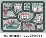 play mat for children activity...   Shutterstock .eps vector #1203549355