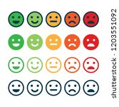 rating satisfaction. feedback... | Shutterstock .eps vector #1203551092
