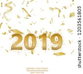 happy new year or christmas... | Shutterstock .eps vector #1203561805