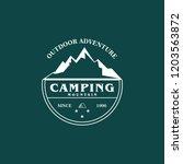 mountain logo vector   Shutterstock .eps vector #1203563872