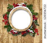 vintage christmas frame with... | Shutterstock . vector #120356722