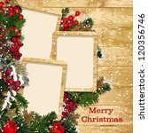 christmas frame with... | Shutterstock . vector #120356746