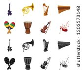 vector illustration of music... | Shutterstock .eps vector #1203573148