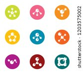 connective tissue icons set.... | Shutterstock .eps vector #1203575002