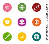 sea occupant icons set. flat... | Shutterstock .eps vector #1203575245