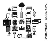 top drawer icons set. simple... | Shutterstock .eps vector #1203575392