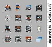 intelligence icon set. vector... | Shutterstock .eps vector #1203576148