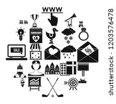 standard icons set. simple set... | Shutterstock .eps vector #1203576478