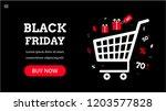 black friday. landing page...   Shutterstock .eps vector #1203577828
