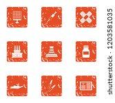 stick icons set. grunge set of... | Shutterstock .eps vector #1203581035