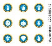 garnish icons set. flat set of... | Shutterstock .eps vector #1203585142