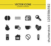 universal icons set with apple  ...