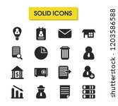 trade icons set with diagram ...