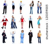 group of workers people set.... | Shutterstock . vector #120359005