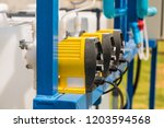 chemical feed pumps for water...   Shutterstock . vector #1203594568