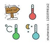 climate icon set. vector set... | Shutterstock .eps vector #1203598162
