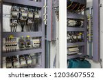 distribution board  panelboard  ... | Shutterstock . vector #1203607552