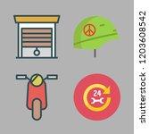 motor icon set. vector set... | Shutterstock .eps vector #1203608542