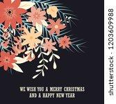 typographic merry christmas... | Shutterstock .eps vector #1203609988