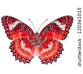 Stock photo red butterfly isolated on white background 120361015