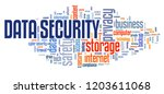 data security text sign  ... | Shutterstock . vector #1203611068