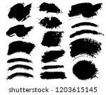 brush strokes. vector... | Shutterstock .eps vector #1203615145